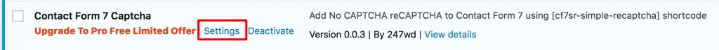 contact form 7 captcha setting