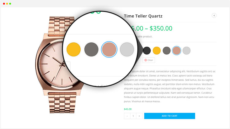 Enable WooCommerce Color Swatches