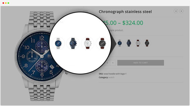 woocommerce product attributes images swatches