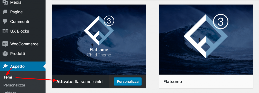 Enable Flatsome Chid Theme