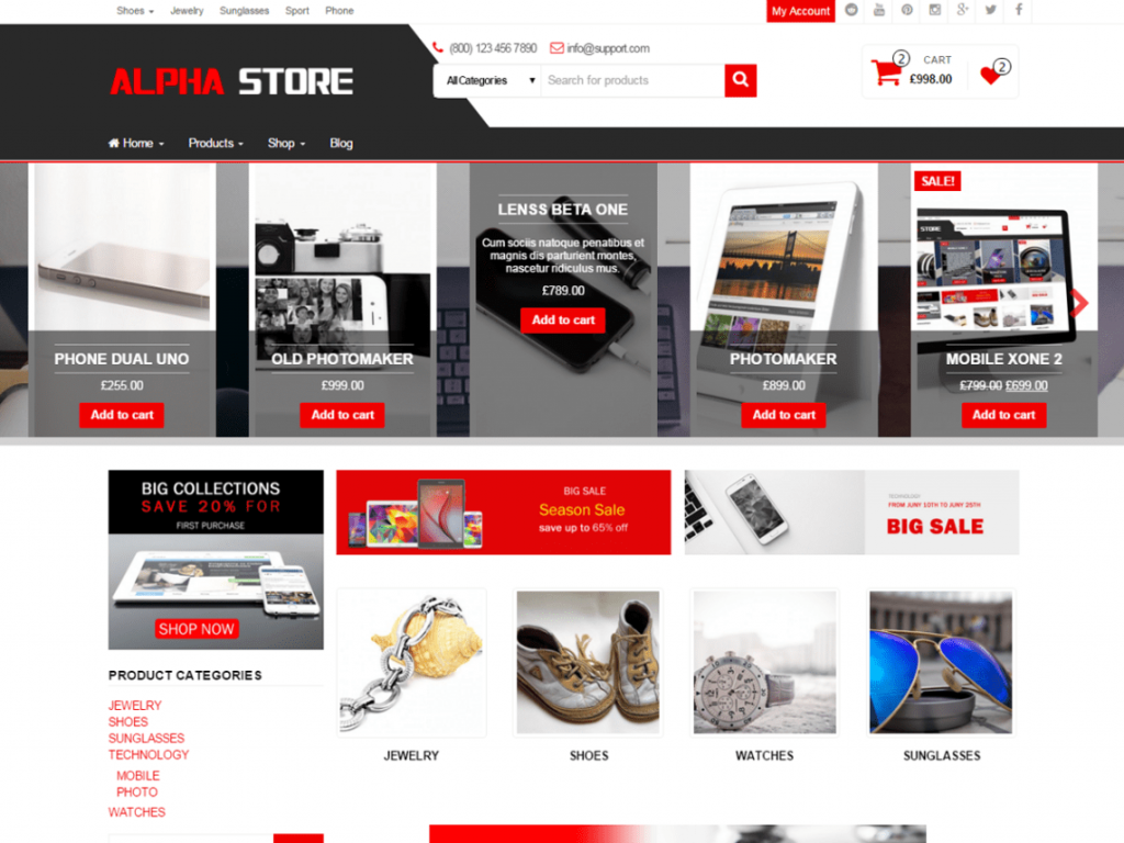 Alpha Store Free WooCommerce Themes For WordPress