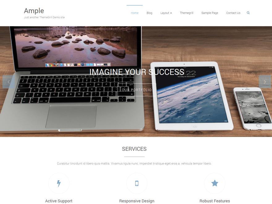 Ample Free WooCommerce Themes For WordPress