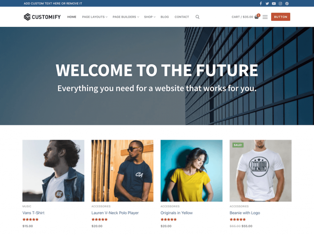 Customify Free WooCommerce Themes For WordPress