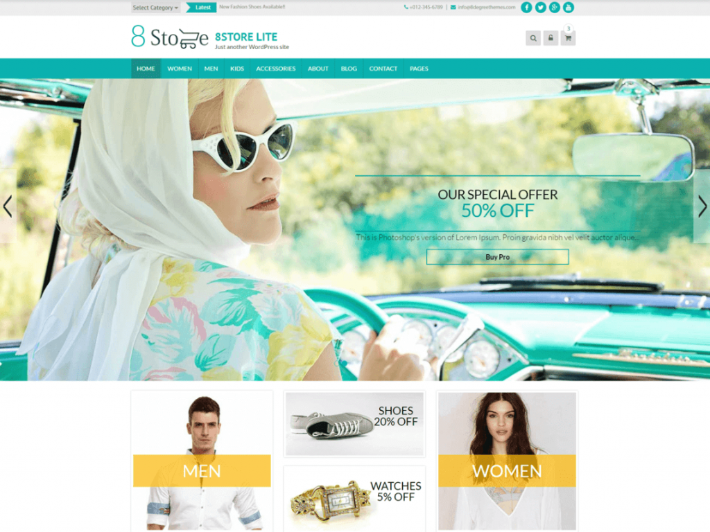 Eightstore Free WooCommerce Themes For WordPress