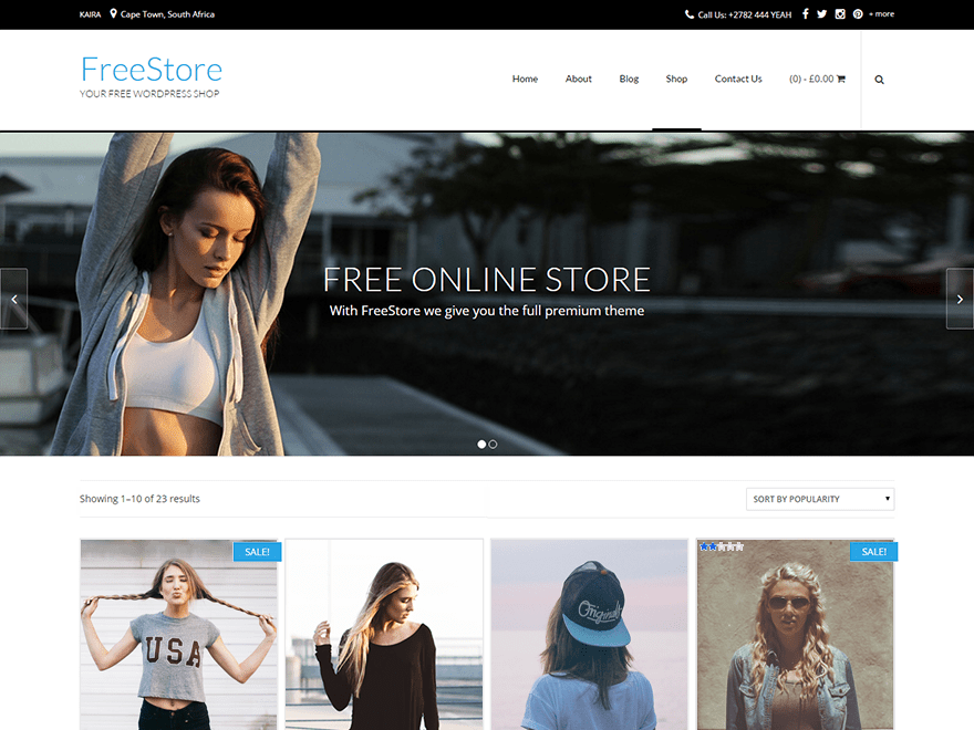 FreeStore Free WooCommerce Themes For WordPress