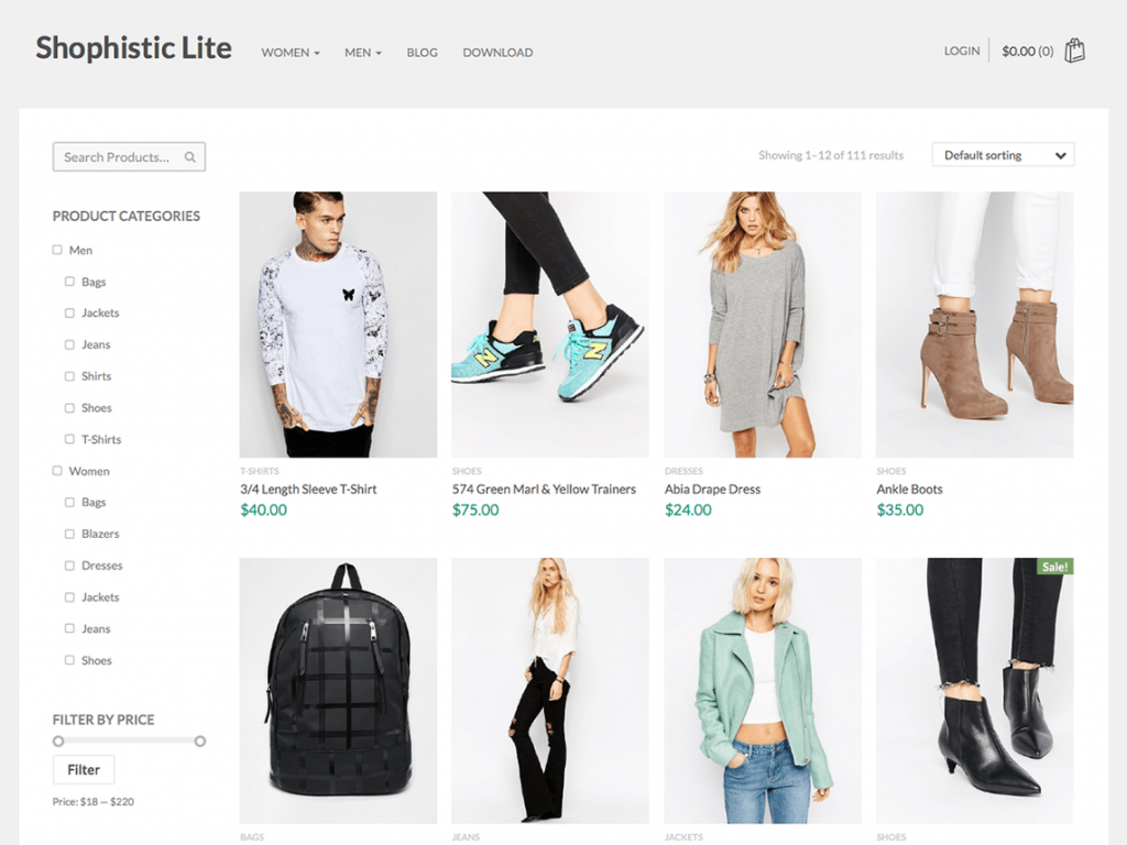 Shophistic Lite Free WooCommerce Themes For WordPress