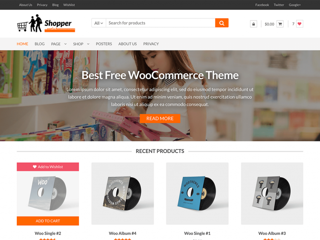 Shopper Free WooCommerce Themes For WordPress