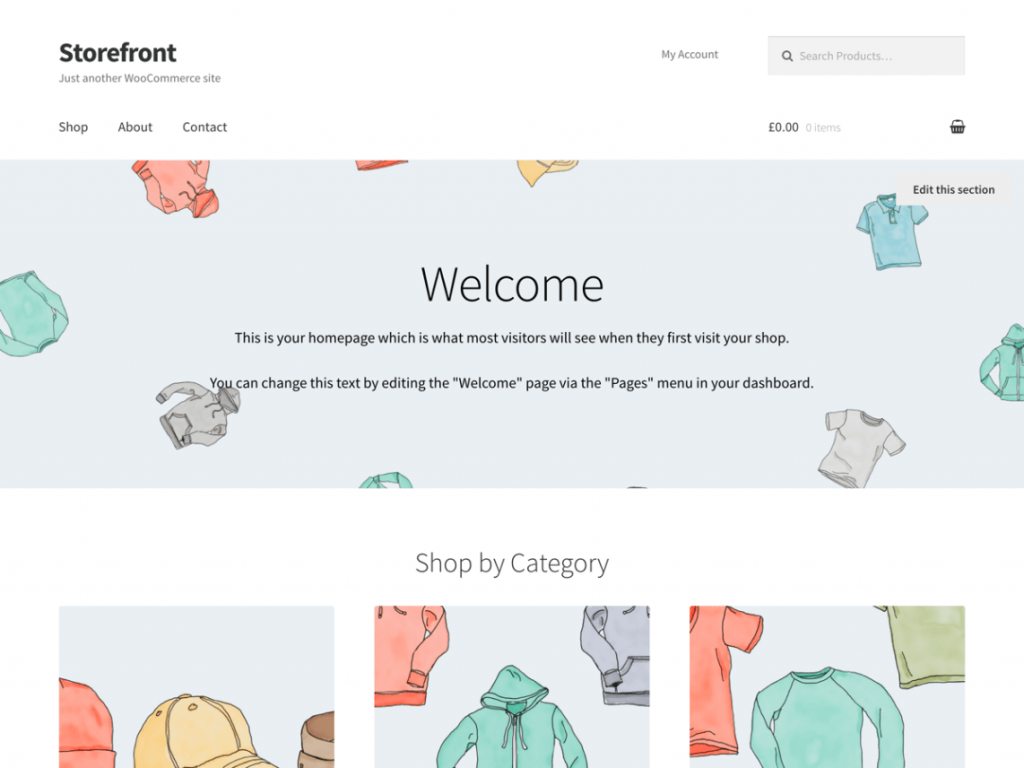 Storefront Free WooCommerce Themes For WordPress
