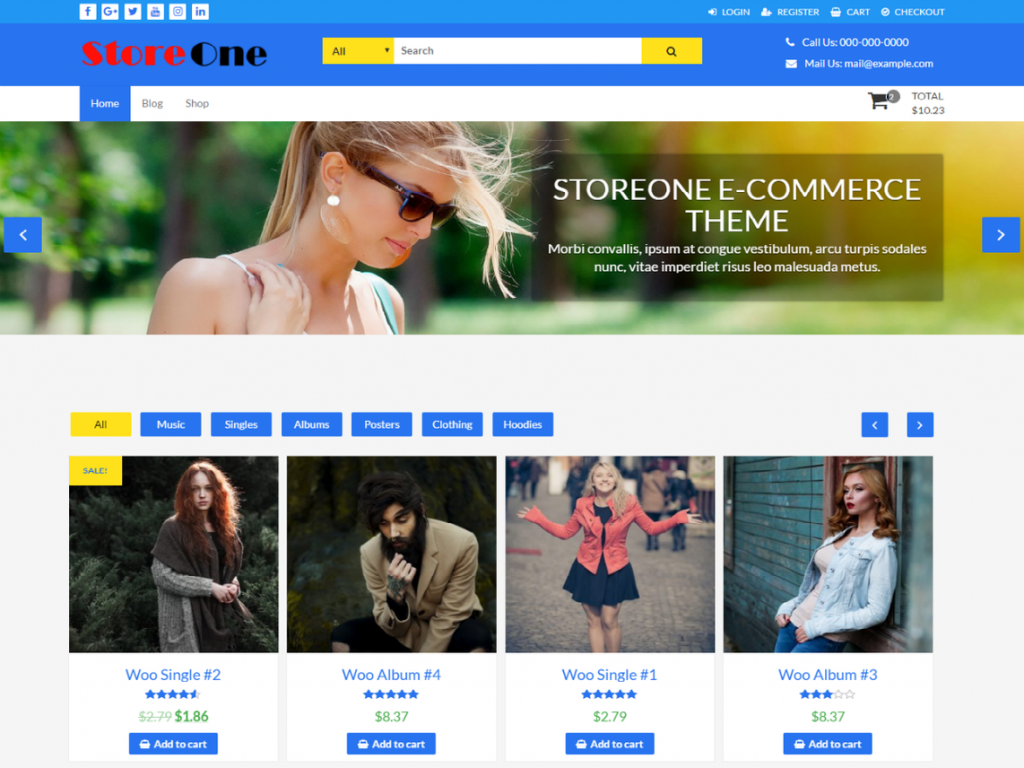 StoreOne Free WooCommerce Themes For WordPress