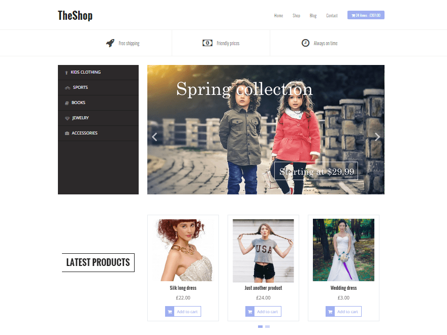 TheShop Free WooCommerce Themes For WordPress