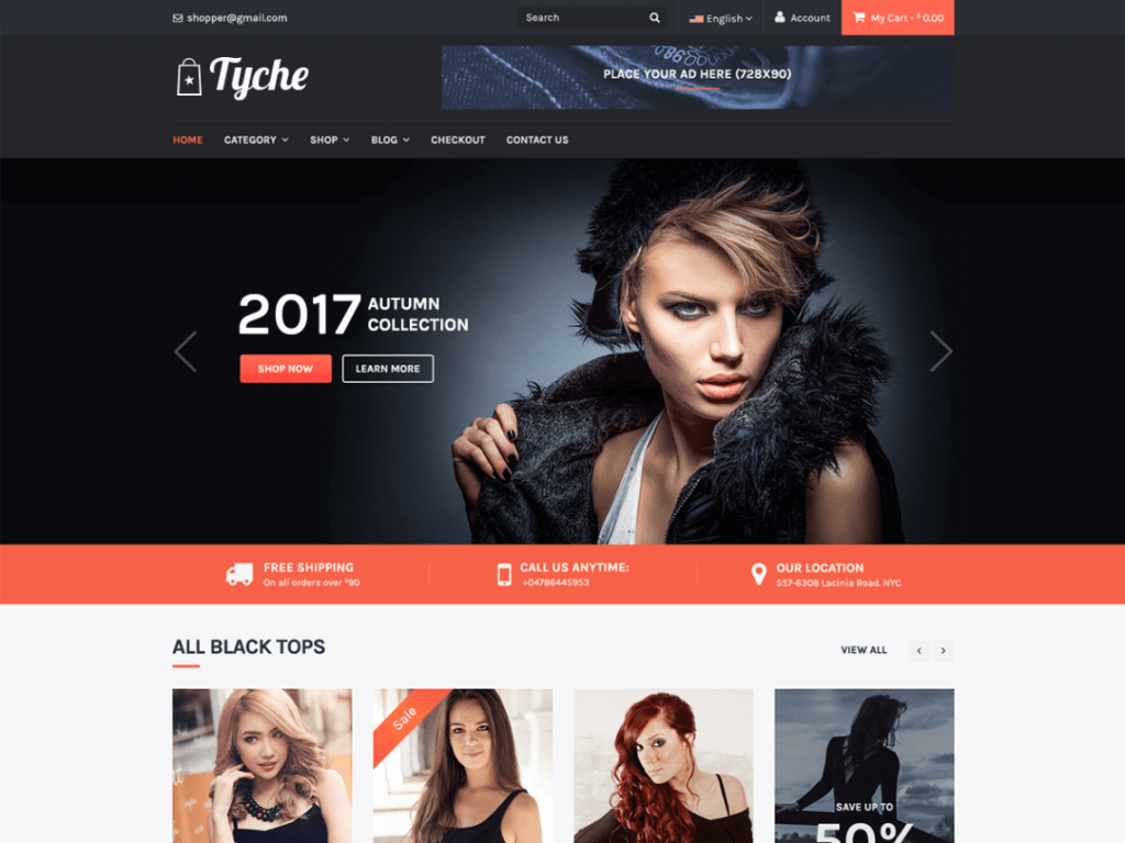 Tyche Free WooCommerce Themes For WordPress