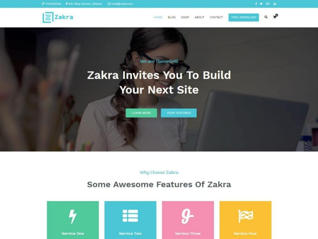 Zakra Free WooCommerce Themes For WordPress