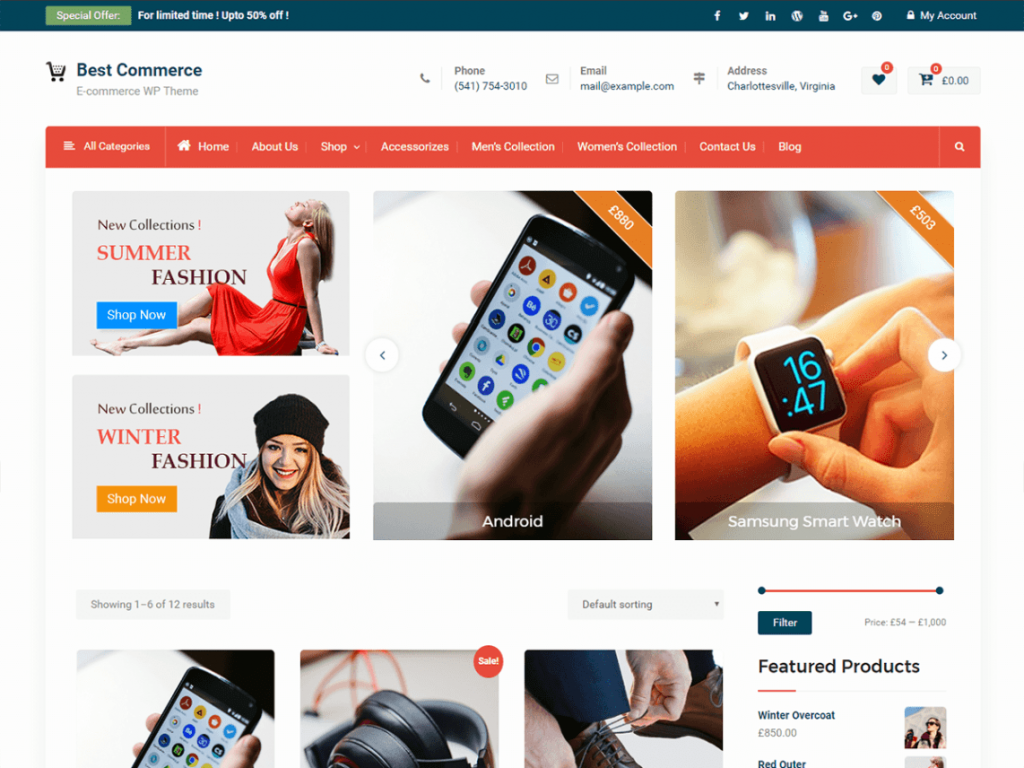 Best Commerce Free WooCommerce Themes For WordPress
