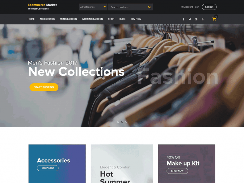 eCommerce Market Free WooCommerce Themes For WordPress