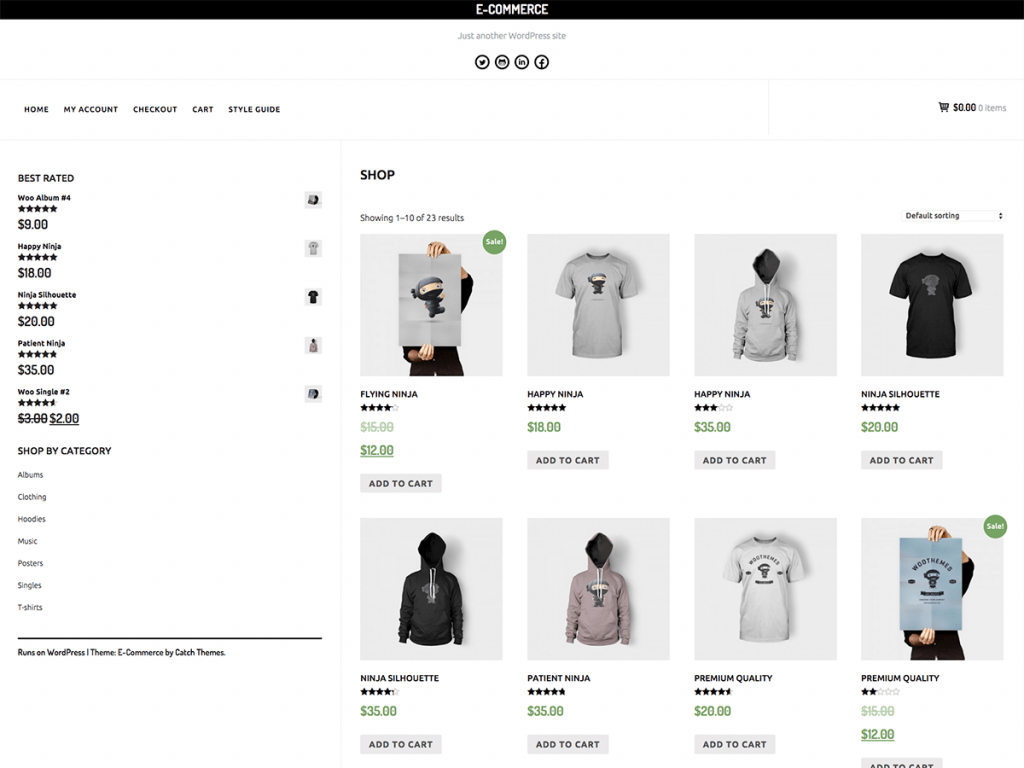 ecommerce catche themes