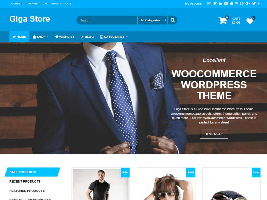 Giga Store Free WordPress Theme