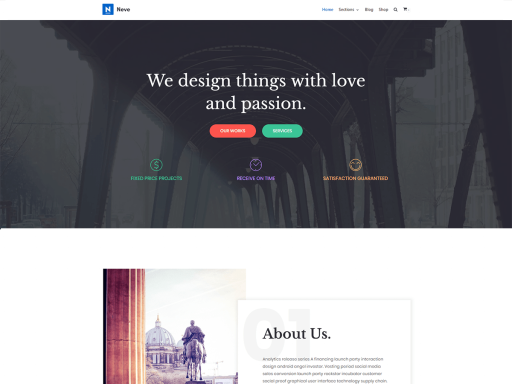 Neve Free WooCommerce Themes For WordPress