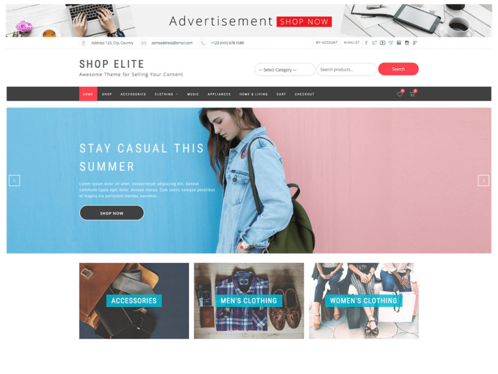 Shop Elite Free WooCommerce Themes For WordPress