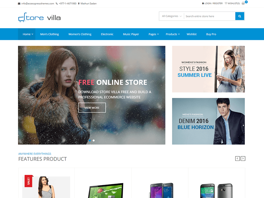 Store Villa Free WooCommerce Themes For WordPress