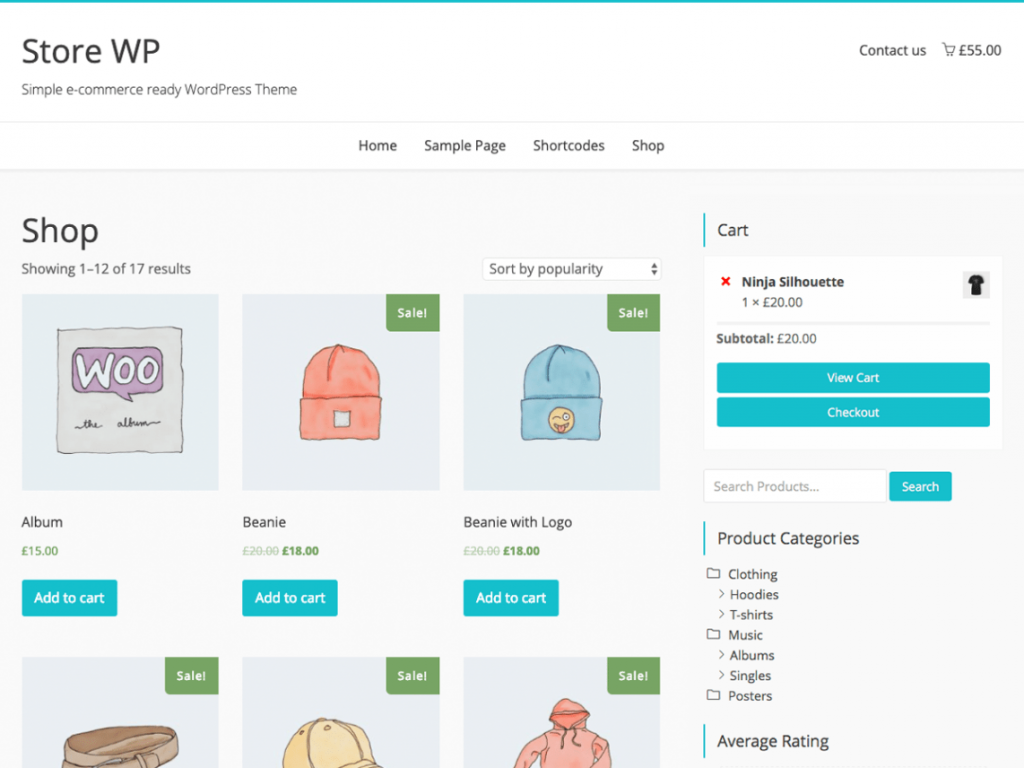 Store WP Free WooCommerce Themes For WordPress