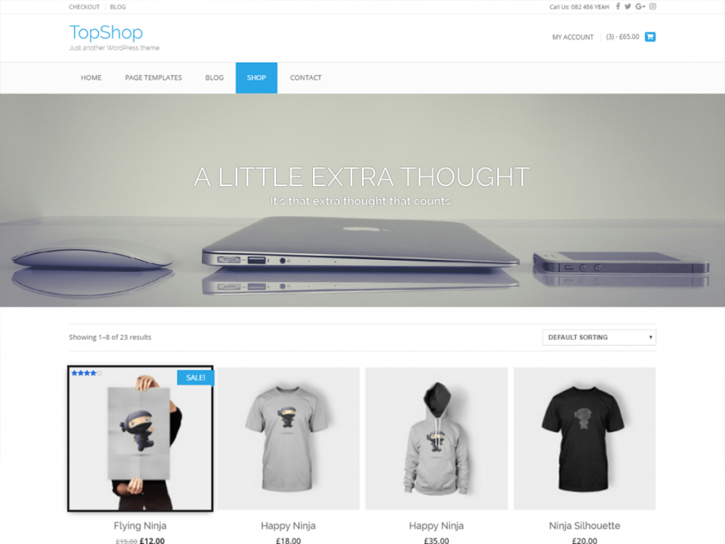 TopShop Free WooCommerce Themes For WordPress