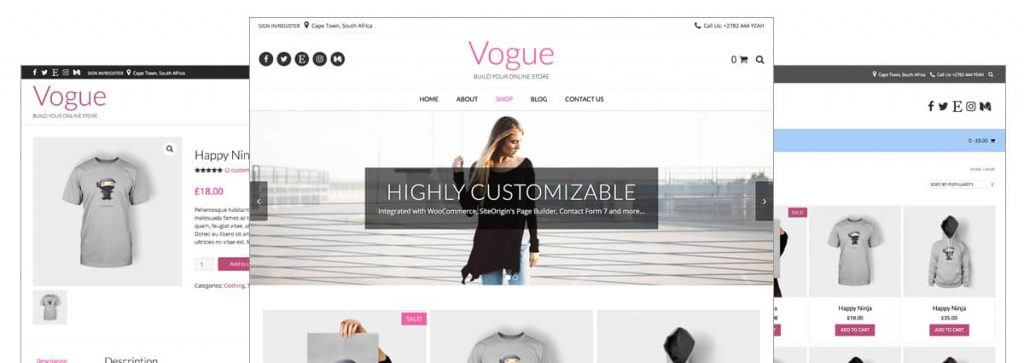 Vogue Free WooCommerce Themes For WordPress