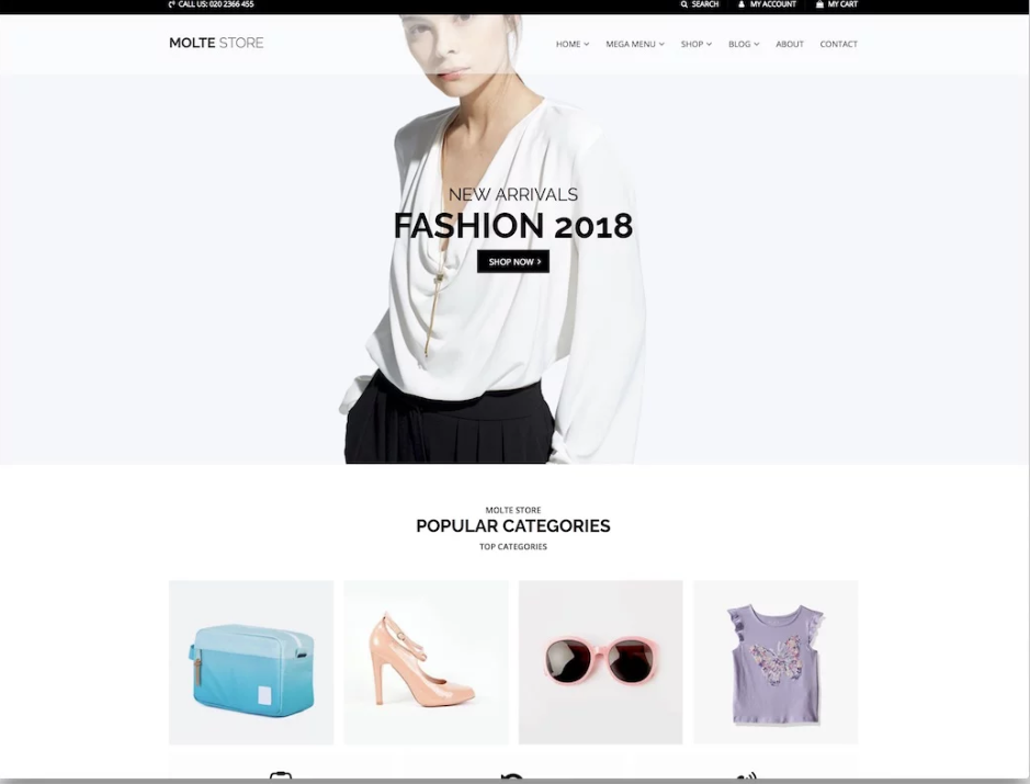 molte theme for woocommerce