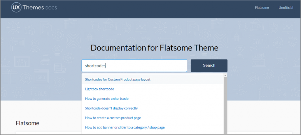 documentation of flatsome