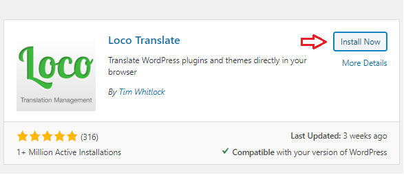 install loco translate plugin