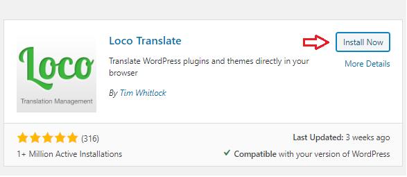 install loco translate plugin