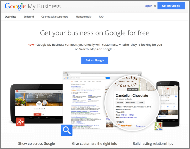 google webmaster tools with google business