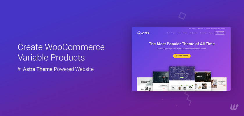 Create WooCommerce Variable Products in Astra Theme Powered Website